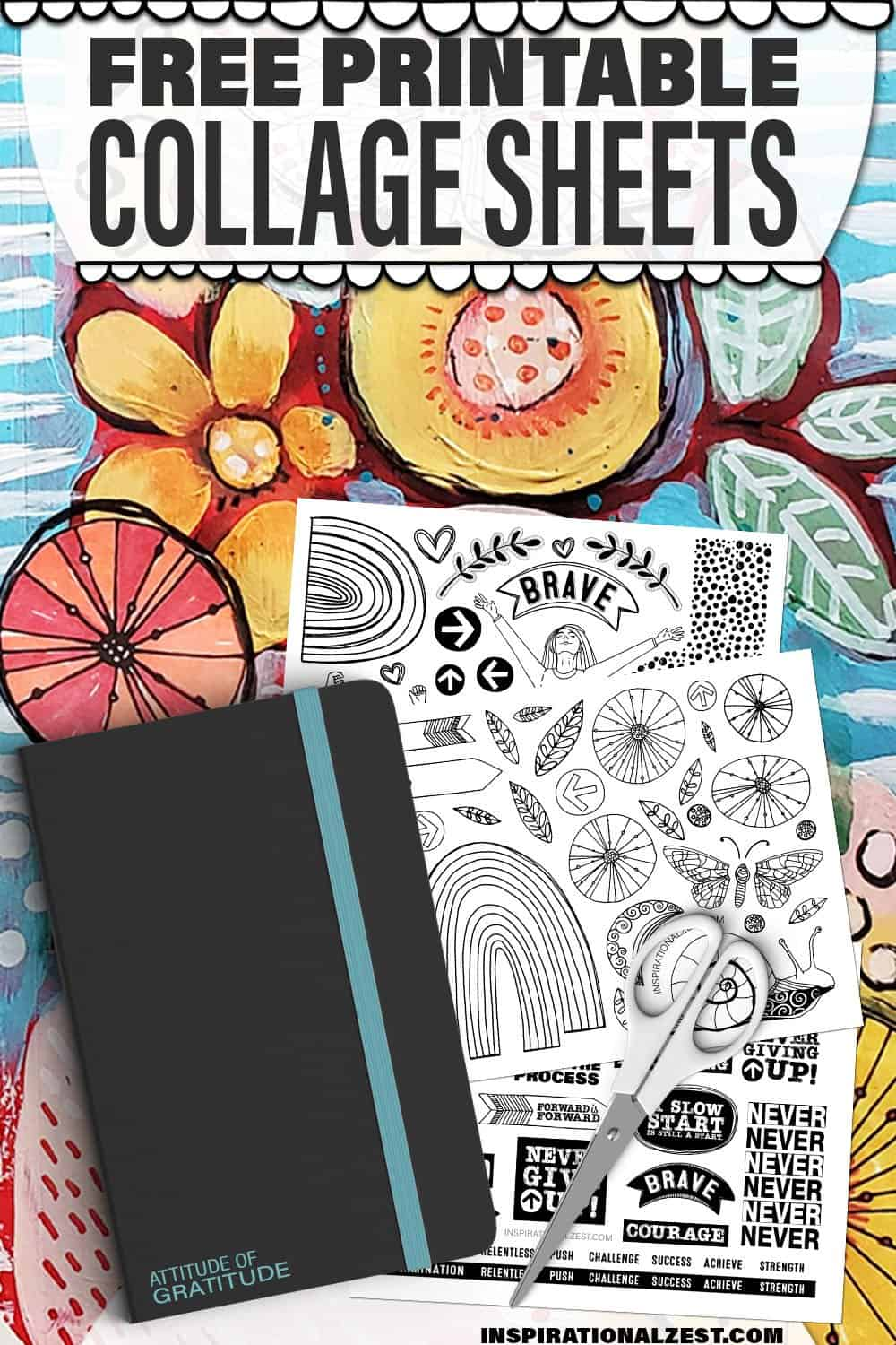 Free Printable Word Art & Illustrations for Art Journals & Collage